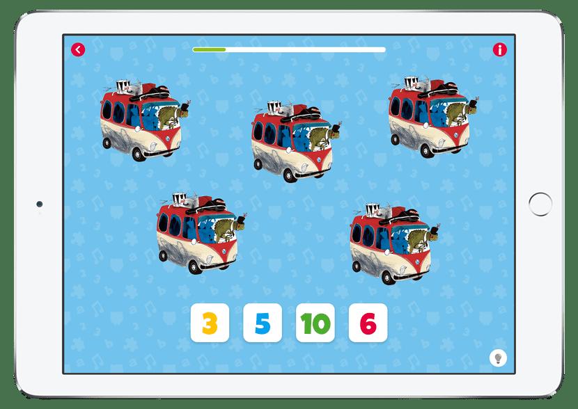 Educatieve spelletjes spelen op tablet met Fundels Prentenboeken