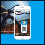Scan Fundels AVI-boek met QR-code sticker op kaft met smartphone