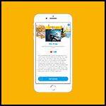 Fundels korte inhoud met 'Ontlenen' knop op smartphone