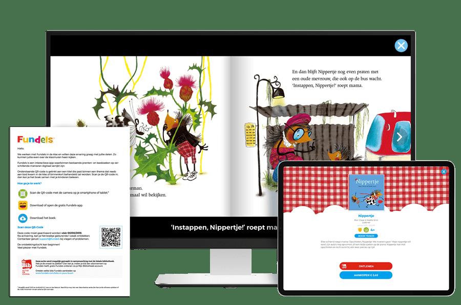 Fundels Prentenboeken als huiswerk via opdrachtenblad met QR-code